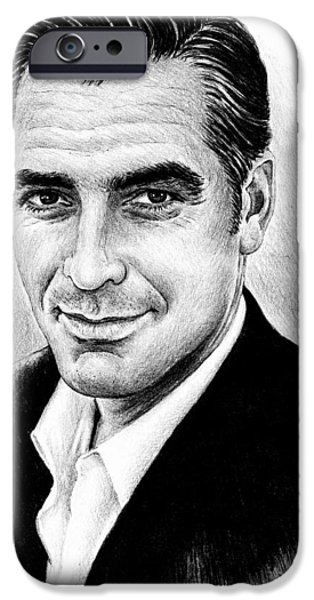 Handsome People iPhone Cases - George Clooney iPhone Case by Andrew Read