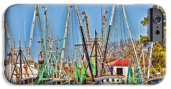 Boat iPhone Cases - Georgetown Shrimpers iPhone Case by Bill Barber