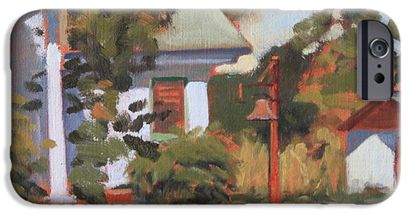 Smithsonian Paintings iPhone Cases - Georgia Bell iPhone Case by Brenda Sumpter