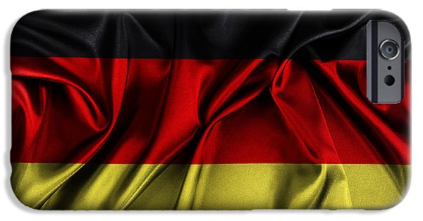 Wavy iPhone Cases - German flag iPhone Case by Les Cunliffe
