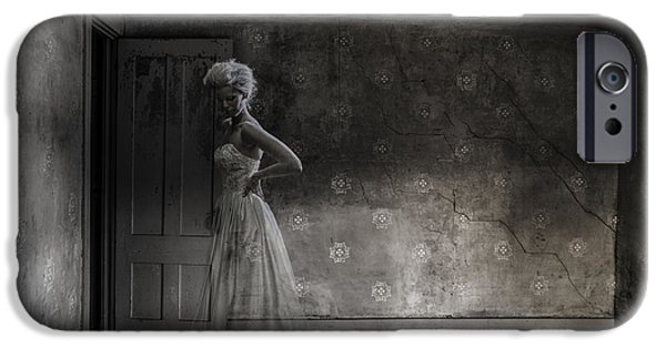 Macabre iPhone Cases - Ghost Bride iPhone Case by Diane Diederich