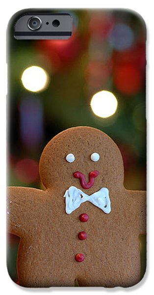 Gingerbread Men in a Line iPhone Case by Amy Cicconi