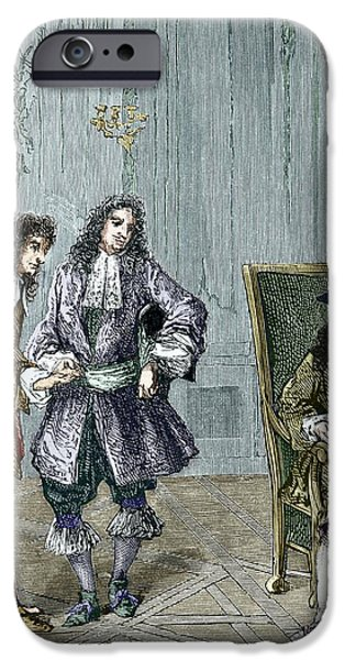First Introduction iPhone Cases - Giovanni Cassini And King Louis Xiv iPhone Case by Sheila Terry