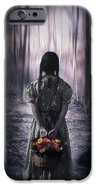 Braids iPhone Cases - Girl In The Woods iPhone Case by Joana Kruse