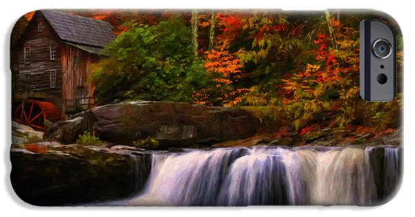 Grist Mill Mixed Media iPhone Cases - Glade Creek grist mill iPhone Case by Chris Flees