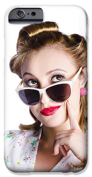 Youthful iPhone Cases - Glamorous woman in sunglasses iPhone Case by Ryan Jorgensen
