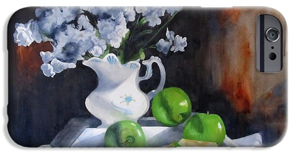 Still Life With Old Pitcher iPhone Cases - Glendas Still life iPhone Case by Denny Dowdy