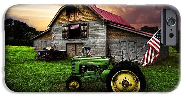 Recently Sold -  - Old Barns iPhone Cases - God Bless America iPhone Case by Debra and Dave Vanderlaan