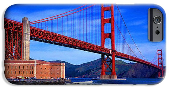 Dirty iPhone Cases - Golden Gate Bridge Panoramic View iPhone Case by Don Kuing