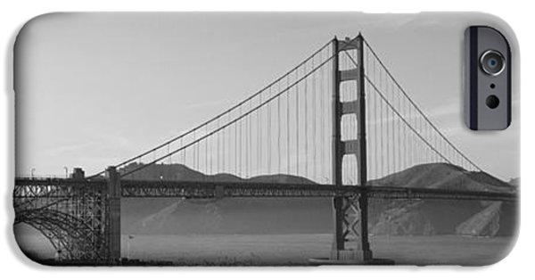 Connection iPhone Cases - Golden Gate Bridge San Francisco Ca Usa iPhone Case by Panoramic Images