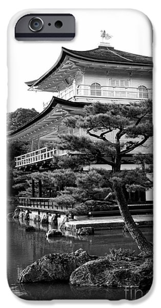 Kyoto iPhone Cases - Golden Pagoda in Kyoto Japan iPhone Case by David Smith