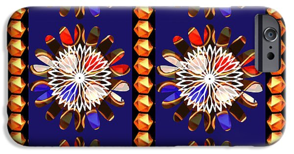 Diy iPhone Cases - Golden Sparkle Jewels n  Chakra ART Decorations Artist created Images Textures Patterns Background D iPhone Case by Navin Joshi