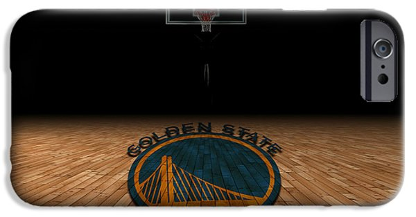 Dunk iPhone Cases - Golden State Warriors iPhone Case by Joe Hamilton