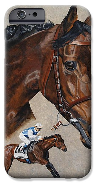 Horse Racing iPhone Cases - Goldikova iPhone Case by Pat DeLong