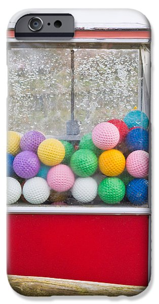 Golf Green iPhone Cases - Golf balls iPhone Case by Tom Gowanlock