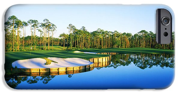 Regatta iPhone Cases - Golf Course At The Lakeside, Regatta iPhone Case by Panoramic Images