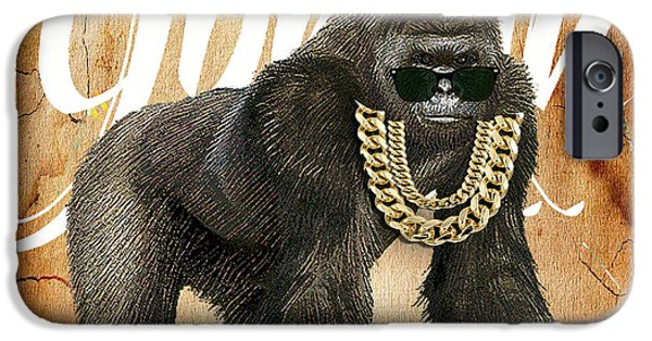 Wild iPhone Cases - Gorilla Collection iPhone Case by Marvin Blaine
