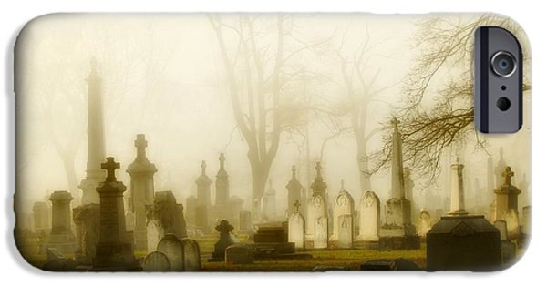 Graveyard Road iPhone Cases - Gothic Morning iPhone Case by Gothicolors Donna Snyder