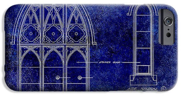 Detail Drawings iPhone Cases - Gothic Window Detail iPhone Case by Jon Neidert