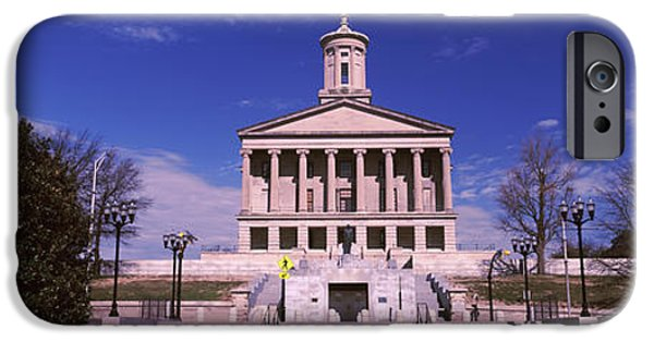 Tennessee Landmark iPhone Cases - Government Building In A City iPhone Case by Panoramic Images