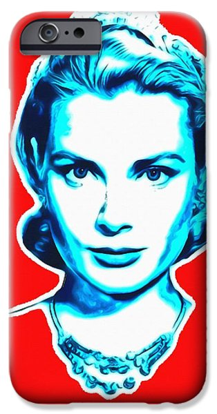 Choker iPhone Cases - Grace Kelly iPhone Case by Art Cinema Gallery