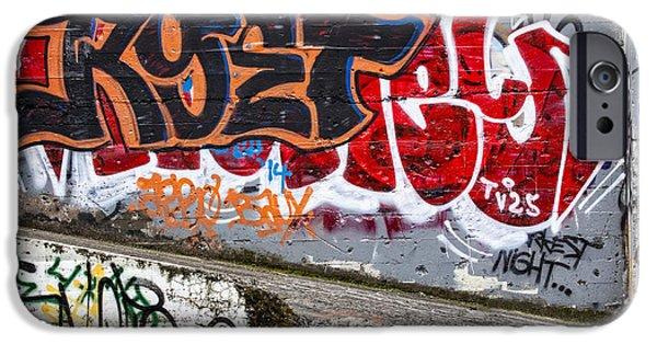 Urban Photographs iPhone Cases - Graffiti iPhone Case by Carol Leigh