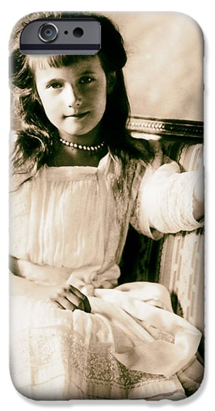 Duchess Photographs iPhone Cases - Grand Duchess Anastasia Nikolaevnav 1909 iPhone Case by Mountain Dreams