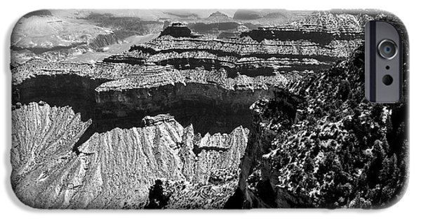 Grand Canyon Digital Art iPhone Cases - Grand View iPhone Case by Camille Lopez