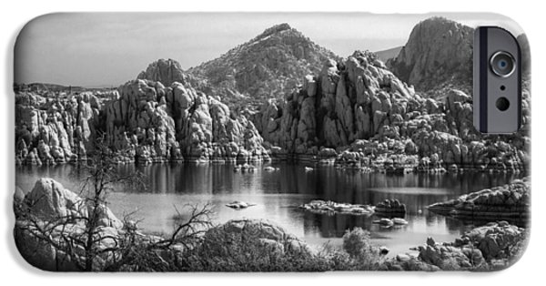 Watson Lake iPhone Cases - Granite Dells iPhone Case by Tam Ryan