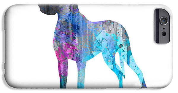 Great Dane iPhone Cases - Great Dane 2 iPhone Case by Luke and Slavi