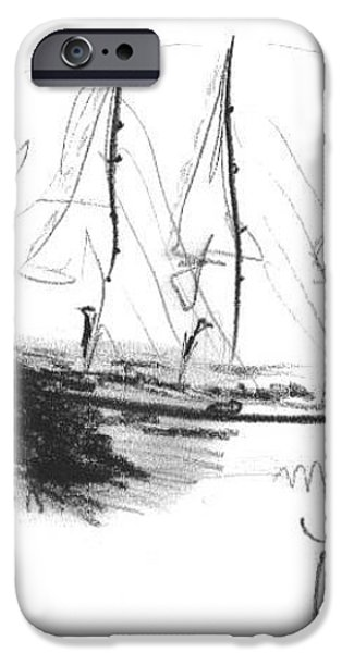 Great Men Sailing iPhone Case by Laurie D Lundquist