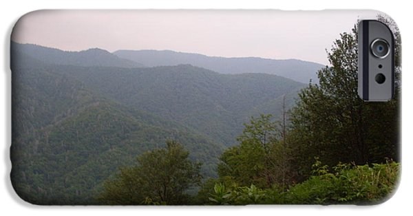Smokey Mountains Paintings iPhone Cases - Great Smokey Mountain iPhone Case by Celestial Images