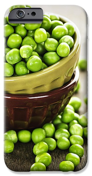 Green peas iPhone Case by Elena Elisseeva