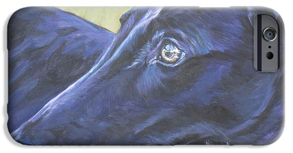 Rescued Greyhound iPhone Cases - Greyhound iPhone Case by Lee Ann Shepard
