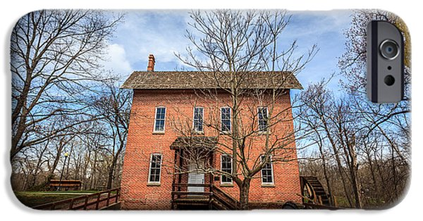 Hobart iPhone Cases - Grist Mill in Deep River County Park iPhone Case by Paul Velgos