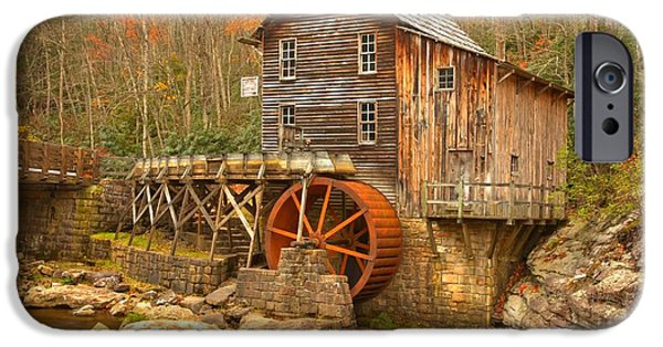 Grist Mill iPhone Cases - Grist Mill On Glade Creek iPhone Case by Adam Jewell