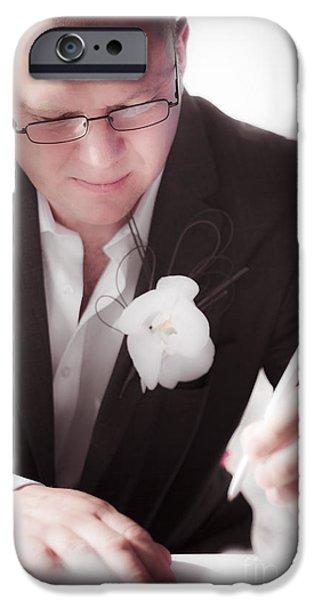 Bridegroom iPhone Cases - Groom iPhone Case by Ryan Jorgensen