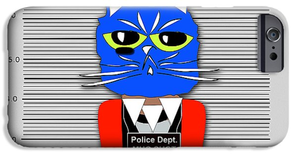 Cat iPhone Cases - Guilty as Charged iPhone Case by Marvin Blaine