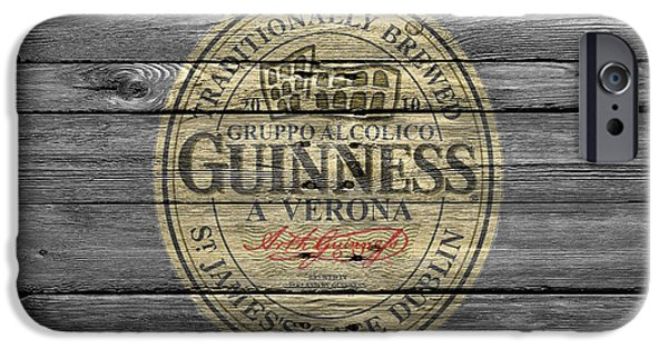 Saloons iPhone Cases - Guinness iPhone Case by Joe Hamilton