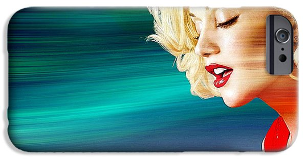 Gwen Stefani iPhone Cases - Gwen Stefani iPhone Case by Marvin Blaine