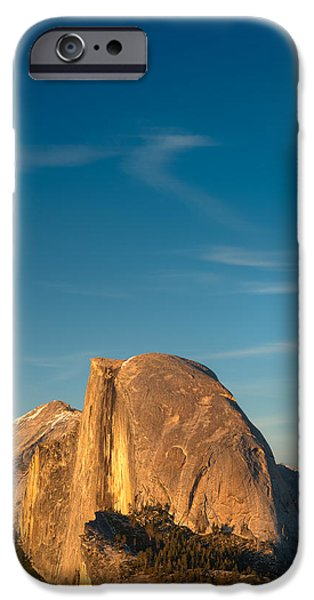 Yosemite National Park iPhone Cases - Half Dome Sky iPhone Case by Steve Gadomski
