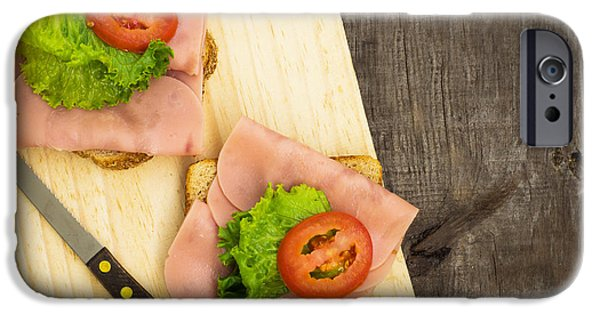 Protein iPhone Cases - Ham Sandwiches iPhone Case by Aged Pixel