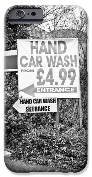 Advertise iPhone Cases - Hand car wash iPhone Case by Tom Gowanlock