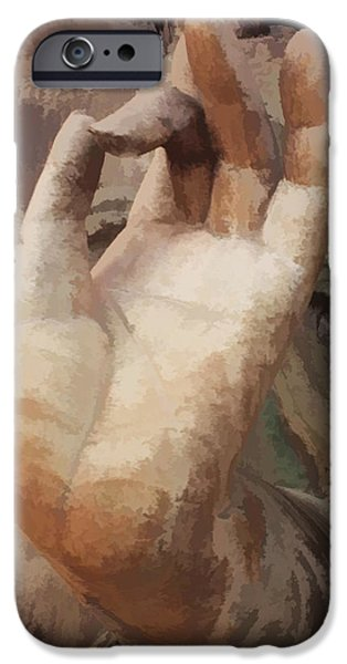 Tibetan Buddhism iPhone Cases - Hand of Buddha c2014 iPhone Case by Paul Ashby