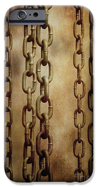 Concept Photographs iPhone Cases - Hanged Chains iPhone Case by Carlos Caetano