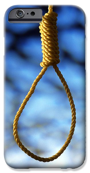 Hangman iPhone Cases - Hangmans Noose iPhone Case by Victor de Schwanberg