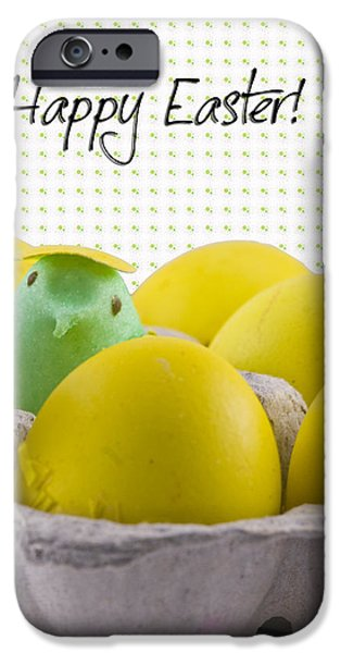Easter Celebration iPhone Cases - Happy Easter iPhone Case by Juli Scalzi
