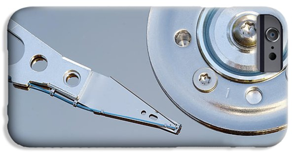 Electrical Equipment iPhone Cases - Hard Disc iPhone Case by Michal Boubin