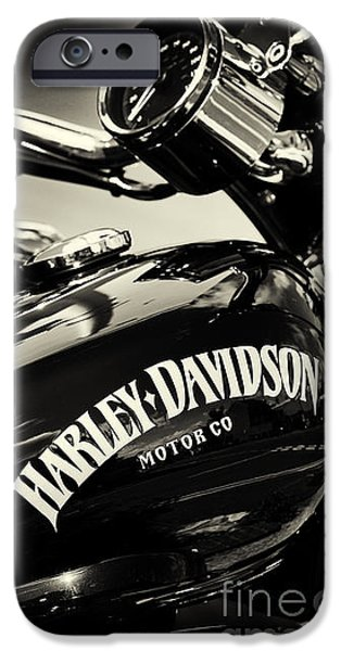 Monochrome iPhone Cases - Harley D Sepia iPhone Case by Tim Gainey