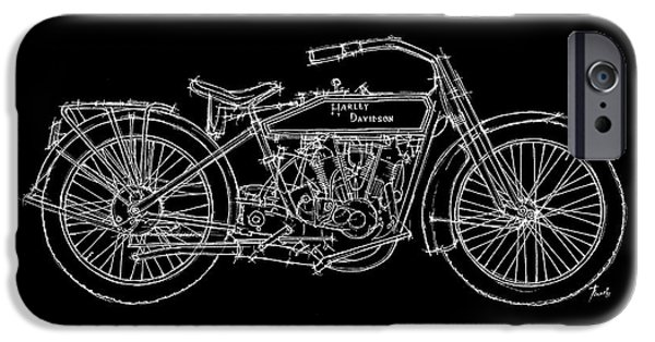 Transportation Pastels iPhone Cases - Harley Davidson 11J 1915 iPhone Case by Pablo Franchi